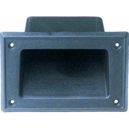 Handvat voor luidspreker - zwart PVC - 70 x 140 mm