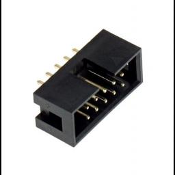 14-polige IDC box-header - Printmontage - Recht - P2,54