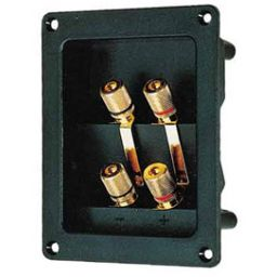 Dubbele luidsprekeraansluiting - verguld - 95 x 75mm