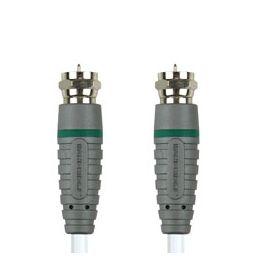 F-connector mannelijk  F-connector mannelijk - 0,5 meter - Wit