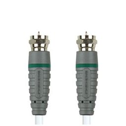 F-connector mannelijk  F-connector mannelijk - 1 meter - Wit