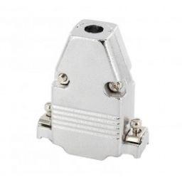 Metalen kap voor 15-polige SUB-D connectoren - Korte schroeven