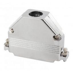 Metalen kap voor 25-polige SUB-D connectoren - Korte schroeven