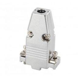 Metalen kap voor 9-polige SUB-D connectoren - Korte schroeven