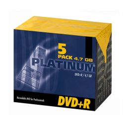 Opneembare DVD+R 4,7GB - 5 stuks