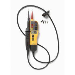 T- Voltage/Continuity Tester met LCD en schakelbare belasting.