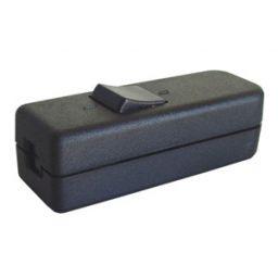 Doorgangsschakelaar 6A/250V Afmetingen: 80x32x22mm zwart