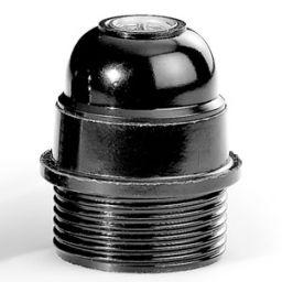 E27 fitting bakeliet halfdraad 4A/250V kleur: zwart