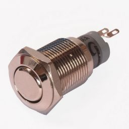Enkelpolige drukknop ON-ON 1A/24VDC 0,5A/230VAC