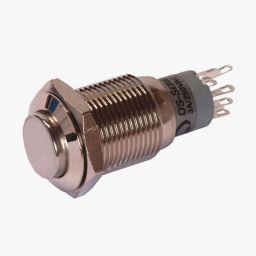 Dubbelpolige drukknop ON-ON 1A/24V DC 0,5A/230V AC
