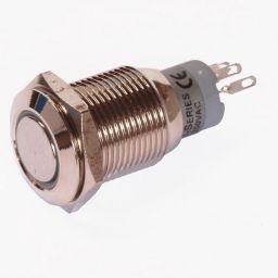 Enkelpolige drukknop ON-(ON) 1A/24VDC 0,5A/230VAC wit