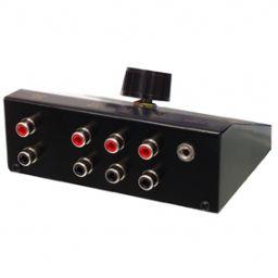 4-weg stereo input uitbreider