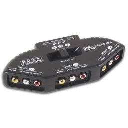 3-kanaals audio/video schakelaar