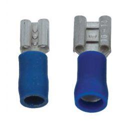 Opschuifcontact vrouwelijk 6,3x0,8mm Blauw - 10 stuks