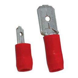 Opschuifcontact mannelijk 2,8x0,8mm Rood - 100 stuks
