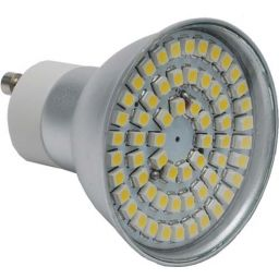 Led lamp GU10 - 60 SMD LEDs -Warm wit - 230V AC