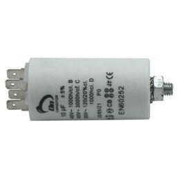Motor run capacitor 10 µF 35x65mm 450Vac 5%  85°C