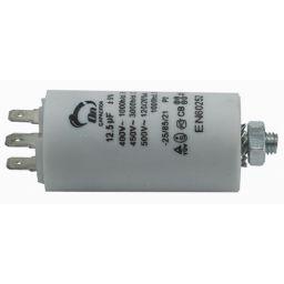 Motor run capacitor 12,5 µF 35x65mm 450Vac 5%  85°C
