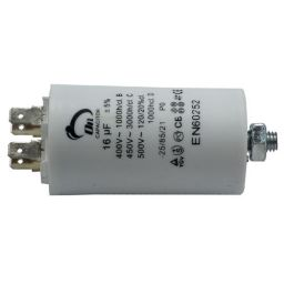 Motor run capacitor 16 µF 40x70mm 450Vac 5%  85°C