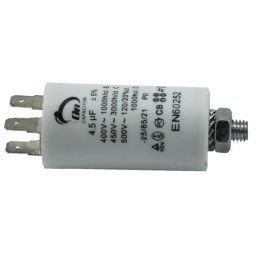 Motor run capacitor 4,5 µF 30x57mm 450Vac 5%  85°C