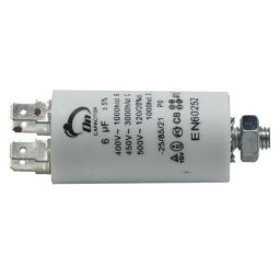 Motor run capacitor 6 µF 30x57mm 450Vac 5%  85°C
