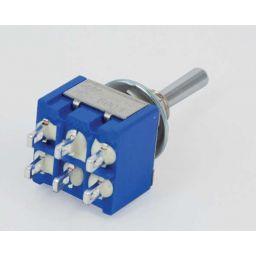 MS-500I Toggle Switch Dubbelp. ON-OFF-(ON) 6A-125V/3A-250V