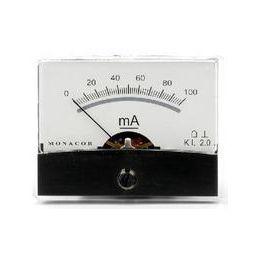 Analoge kwaliteitspaneelmeter 100mA DC / 60 x 47mm