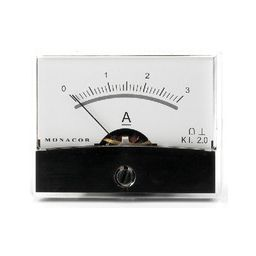 Analoge kwaliteitspaneelmeter 3A DC / 60 x 47mm