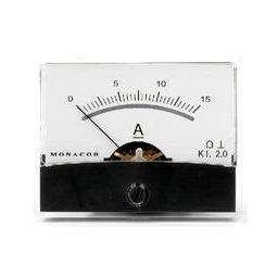 Analoge kwaliteitspaneelmeter 15A DC / 60 x 47mm