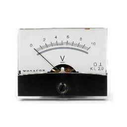 Analoge kwaliteitspaneelmeter 10V DC / 60 x 47mm