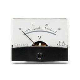 Analoge kwaliteitspaneelmeter 30V DC / 60 x 47mm