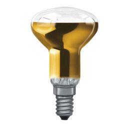 E14 -socket - R50 - 40W - 230V lamp - d=50mm / l=86mm - Goud - 35° **