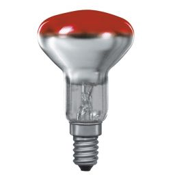 E14 -socket - R50 - 25W - 230V lamp - d=50mm / l=85mm - Rood - 35°