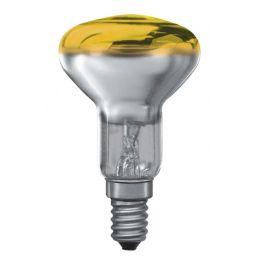 E14 -socket - R50 - 25W - 230V lamp - d=50mm / l=85mm - Geel - 35°