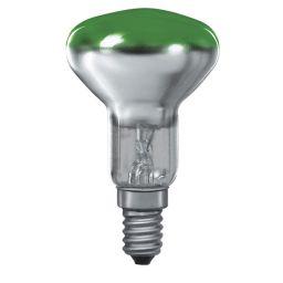 E14 -socket - R50 - 25W - 230V lamp - d=50mm / l=85mm - Groen - 35°