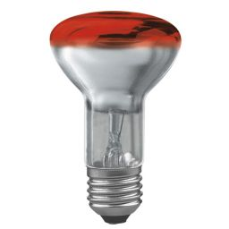 E27 -socket - R60- 40W - 230V lamp - d=63mm / l=102mm - Rood - 35°