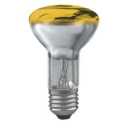 E27 -socket - R60- 40W - 230V lamp - d=63mm / l=102mm - Geel - 35°