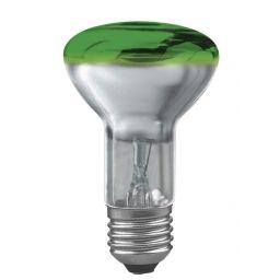 E27 -socket - R60- 40W - 230V lamp - d=63mm / l=102mm - Groen - 35°