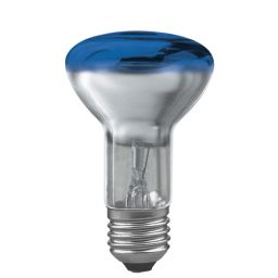 E27 -socket - R60- 40W - 230V lamp - d=63mm / l=102mm - Blauw - 35°