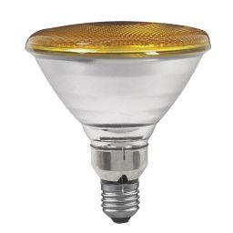 E27 -socket - PAR38- 80W - 230V lamp - d=122mm / l=136mm - Geel - 30°