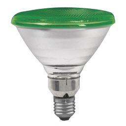 E27 -socket - PAR38- 80W - 230V lamp - d=122mm / l=136mm - Groen - 30°