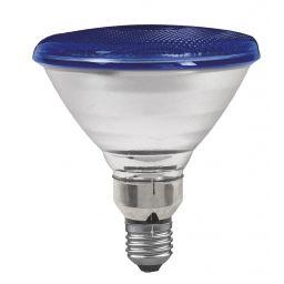 E27 -socket - PAR38- 80W - 230V lamp - d=122mm / l=136mm - Blauw - 30°