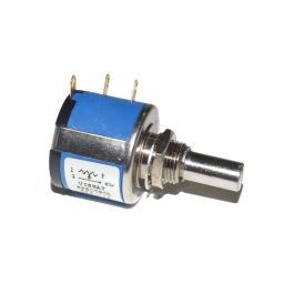 Multiturn potentiometer 10T 2W 500 ohm mono lin
