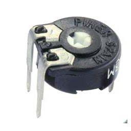 PIHER trimmer PT10 100Kohm 0,15W horizontal mounting