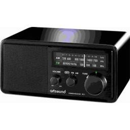 Houten cabinet radio, zwart