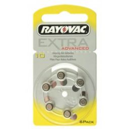 Rayovac Zinc-Air batterijen 1,4V 90mAh 6 pieces
