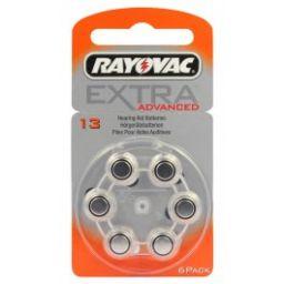 Rayovac Zinc-Air batterijen 1,4V 310mAh 6 stuks