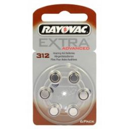 Rayovac Zinc-Air batterijen 1,4V 160mAh 6 stuks