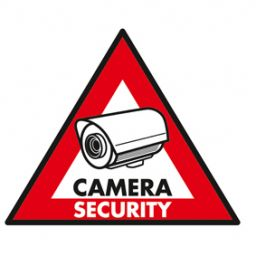 Sticker camera security - 123x148mm 5st