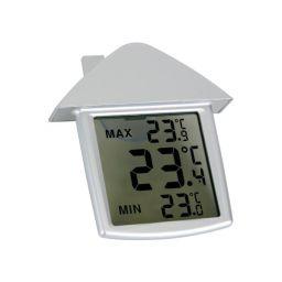 Transparante raamthermometer met min- en maxaanduiding